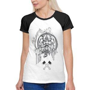 TS-211-01 女裝棉質插肩圓領T恤