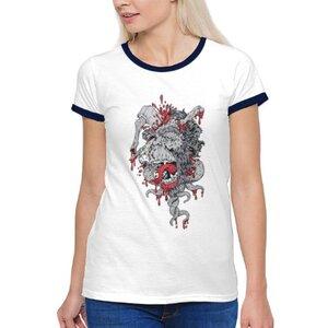 TS-260-02 女裝棉質彩邊圓領T恤