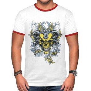 TS-259-02 男裝棉質彩邊圓領T恤
