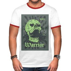 死亡戰士 男裝棉質彩邊圓領T恤