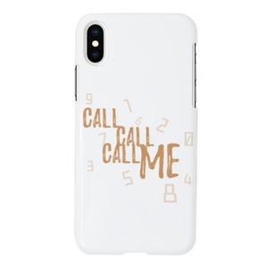 CALL CALL CALL ME-White[iPhone X Glossy Case]