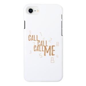 CALL CALL CALL ME-White[iPhone 8 Glossy Case]