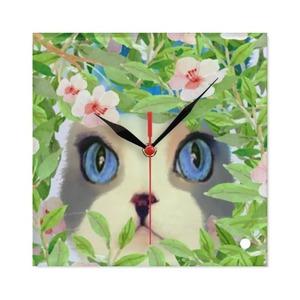 Square Glass Wall Clock