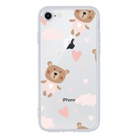 iPhone 8 Tempered Glass Transparent Case