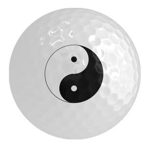 Ying Yang Golf Ball