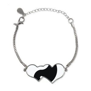 Heart Shaped Ying Yang Bracelet