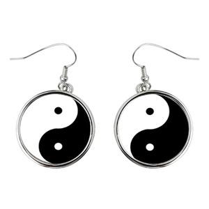 Ying Yang Round Earrings