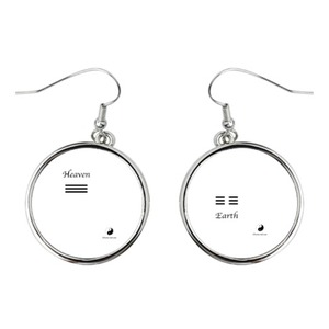 Heaven and Earth Round Earrings