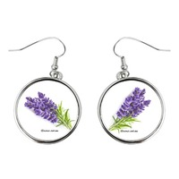 Round Earrings lavender life