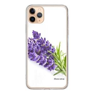iPhone 11 Pro Max Tempered Glass Transparent Case lavender life