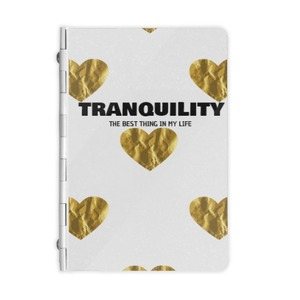 Gold Heart Metal Notebook