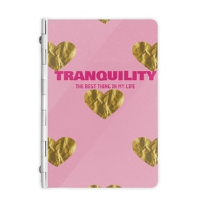 Pink Gold Heart Metal Notebook