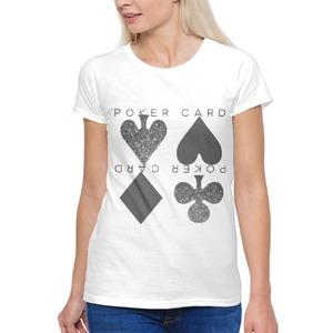 Silver Poker Card 女裝棉質圓領T恤