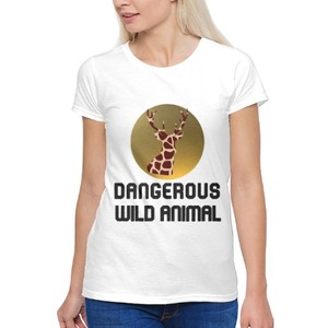 Dangerous Wild Animal 女裝棉質圓領T恤