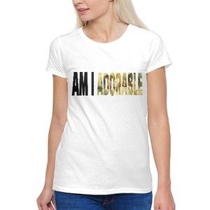 AM I ADORABLE Oil Paint Women's Basic T-Shirt