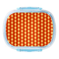 red and yellow cubes pattern Lunch Box
