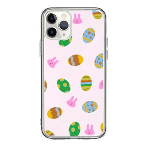 easter eggs and bunnies iPhone 11 Pro Clear Case