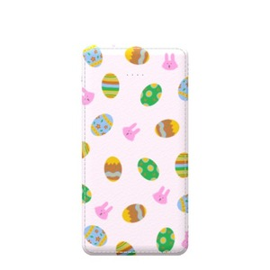 easter eggs and bunnies pattern Type-C 5000mAh Imitation Leather Power Bank