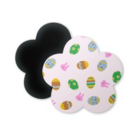 easter eggs and bunnies pattern Flower Shaped Magnet