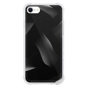 9son iPhone SE 透明防撞殼(2020 TUP軟款)-潮流黑