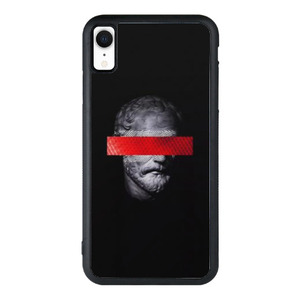 9son iPhone Xr 防撞殼 (雕像拚色黑)