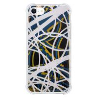 9son iPhone SE 透明防撞殼(2020 亞加力硬款)- 藝術黑