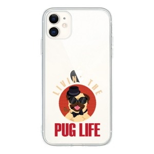 iPhone 11 Clear Case-pug life