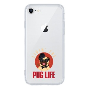 iPhone 8 Clear Case - pug life