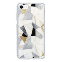 9son iPhone SE 透明防撞殼(2020 亞加力硬款)- 優雅白