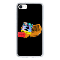 9son iPhone SE 透明防撞殼(2020 TUP軟款)-潮流貼紙黑