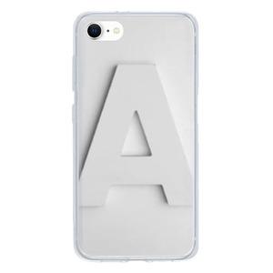 9son iPhone SE 透明防撞殼(2020 TUP軟款)- 文字白