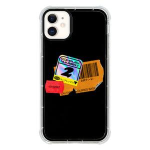 9son iPhone 11 透明防撞殼(潮流貼紙黑)