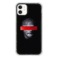 9son iPhone 11 透明防撞殼(雕像拚色黑)
