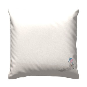 """Cycling in Peace Throw Pillow 16"""" x 16"""""""