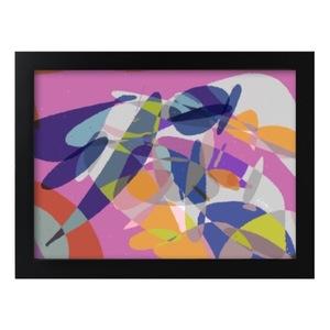 紐約派實驗曲 裝飾抽象黑框畫 Framed Print