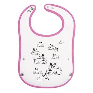 兔兔多子多孫嬰兒圍兜 bunny Baby Pocket Bib