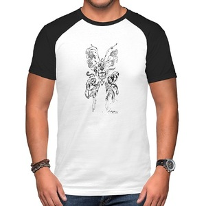 生命輪轉 Life cycle  男裝棉質插肩圓領T恤 Men's Raglan T-Shirt