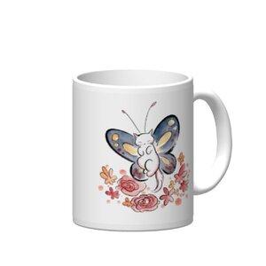 Cat butterfly 陶瓷杯12oz