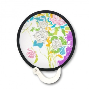 遍地開花 折疊扇Foldable Round Fan
