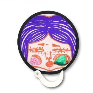 pop girl Foldable Round Fan 折疊扇