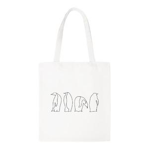 Penguin Canvas Shoulder Tote Bag