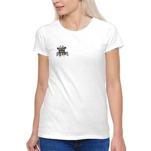 客製化似顏繪女生T恤