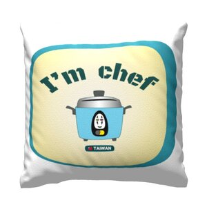 "Throw Pillow 16"" x 16""可愛大同電鍋 I'm Chef"