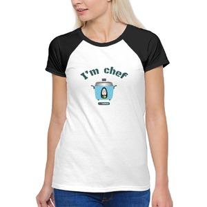 Women 's Raglan T-Shirt-可愛大同電鍋 I'm Chef