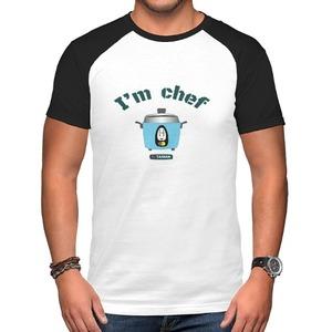 Men's Raglan T-Shirt~可愛大同電鍋 I'm Chef