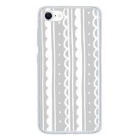 灰色蕾絲iPhone SE Clear Case(2020 TPU soft case)