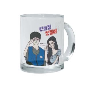 Qmin-便利店新星之店長手勢(Backstreet Rookie)(Clear Glass Mug, 11oz)