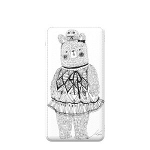 3 in 1 5000mAh Imitation Leather Power Bank  我是熊女孩  I am bear girl