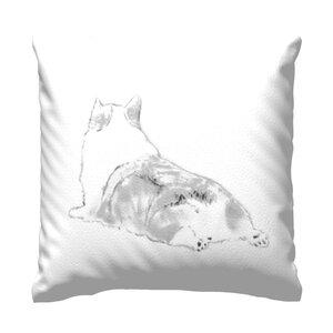 "Throw Pillow 16"" x 16"" corgi"