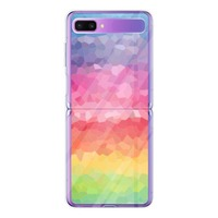 Thank You Color my Life。Samsung Galaxy Z Flip Clear Case (Acrylic hard case)